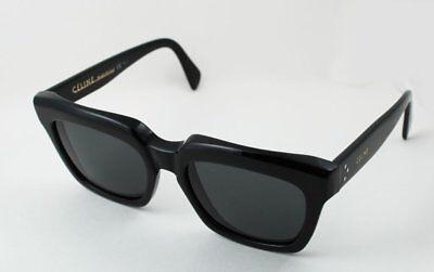 Celine CL 41023/S Thick Rim Traveller Sunglasses Black 807BN Square Brown (Celine Deep Square Sunglasses)