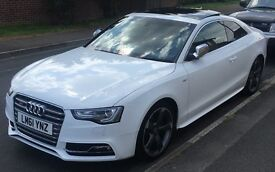 White Audi S5, mint condition, Auto, Quattro, stunning car, needs to be viewed