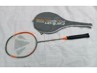 Badminton racket with cover used