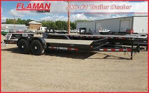 Trailtech 18' Construction Series Trailer - 5' Slide In Ramps!