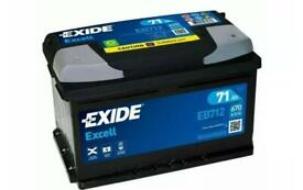 BRAND NEW EXIDE EB712 096/100 EXCELL CAR BATTERY 71Ah 670A 100