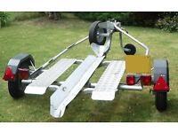 Ro-Ro motorcycle trailer.