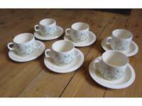 Vintage 1977 Hornsea Fleur pottery / crockery / tea set