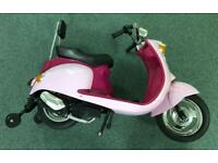 Pink Electric kids scooter