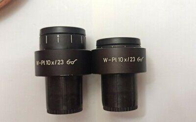 Zeiss Microscope Ocular Set W- Pl10x23
