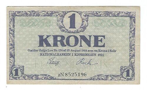 Denmark - 1921, 1 Krone