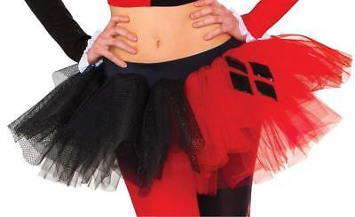 Harley Quinn Skirt (Harley Quinn Tutu Skirt DC Comics Fancy Dress Halloween Adult Costume)