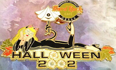 Hard Rock Cafe UC Osaka 2002 Halloween Pin Sexy Blond Catwoman #17993 Citywalk