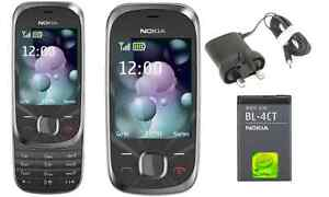 New Condition Nokia 7230 Slide 3G Unlocked mobile phone 3.2MP  Bluetooth Black