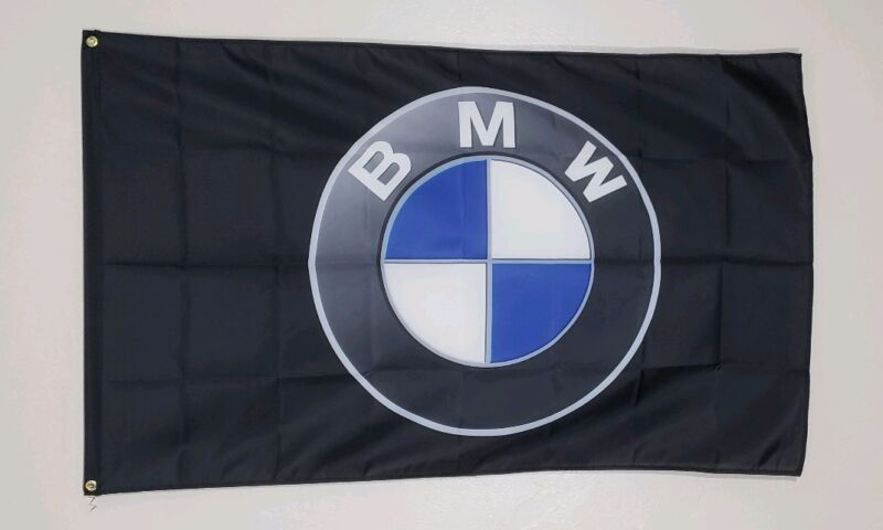 BMW Banner Flag 3x5 Ft Logo Car Show Garage Wall Gift M Coupe Roadster M Power