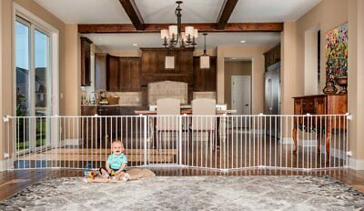 Regalo 192-Inch Super Wide Adjustable Baby Gate Play Yard 4-In-1 Kit +Wall Mount