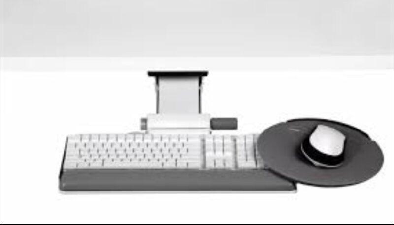 "Humanscale 6G Series 900 Keyboard Tray w/ 8.5"" Mouse Platform & 7"" Adj. Arm"