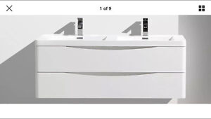 NEW Wall Hung Vanity + Basin 120cm | SMILE Prodigg  - Pure White Macquarie Links Campbelltown Area Preview