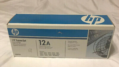 NEW HP LaserJet 12A (Q2612A) Black Toner Print Cartridge Brand NEW GENUINE for sale  Shipping to India