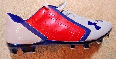 NEW Under Armour Blur Phantom Mc Mens Football Cleats  Blue/red/gray  12