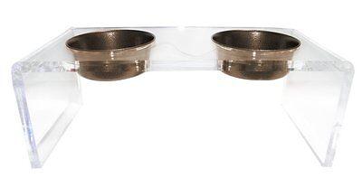 Platinum Pets 5 Star Modern Acrylic Dog Cat Pet Feeder Bowl Copper Vein