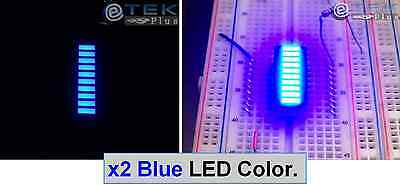 2 Pcs X Blue Color 10-segments Led Bargraph Array - Usa