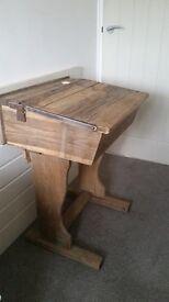 Vintage wooden child's school desk