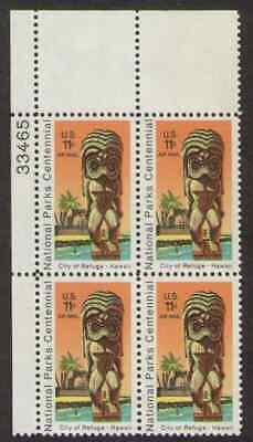 US. C84. 11c. Kil Statue Templr, National Park 100th. PB4. 33465 UL. MNH 1972 - $1.98