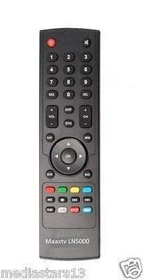 Remote Control For MAAXTV  LN5000 & ZAAPTV  HD509 N  + FREE SHIPPING