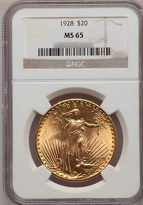 TWENTY 20 $20 SAINT GAUDENS NGC MS65 PRE 1933 US GOLD DOUBLE EAGLES FREE SHIP