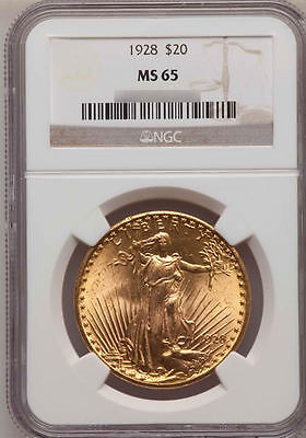 1933 20 Gold Double Eagle ($20 Saint-Gaudens NGC MS65 pre-1933 US Gold Double Eagle - FREE shipping )
