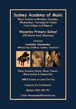 Sydney Academy of Music Waverley Eastern Suburbs Preview
