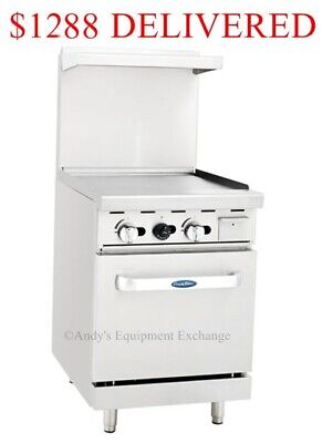 New 24 Flat Top Grill W 20 Oven Nsf Gas Food Truck Friendly Ato-24g