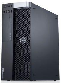 Dell Precision DESIGN Computer PC -HUGE 16GB- Intel Xeon E5 -500GB -ATI Firepro 2GB *1 Yr Warranty*