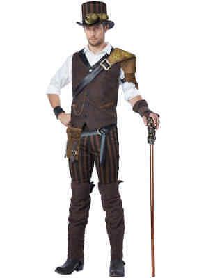 California Costumes Adult Steampunk Adventurer Costume, Large *Read Description*