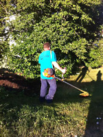 Cutting lawns around hrm. No contract obligations.