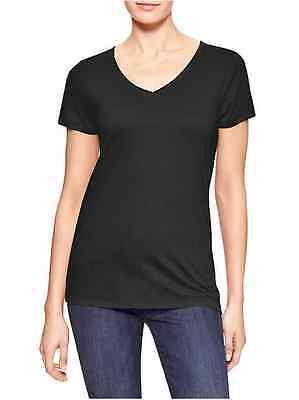 GAP Favorite V Neck Tee Short Sleeve T Shirt  Women`s Top Black Blouse NWT