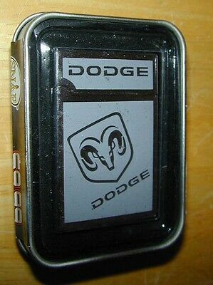 LIGHTER Silver Dodge Ram Truck Refillable Snap Metal Green Torch Flame Nice NEW