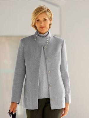 Jacke Damen Kurzmantel Mantel Wolle-Kaschmir Paola Winter grau Größe 38 NEU - Mantel Damen Kurz Wolle Jacke