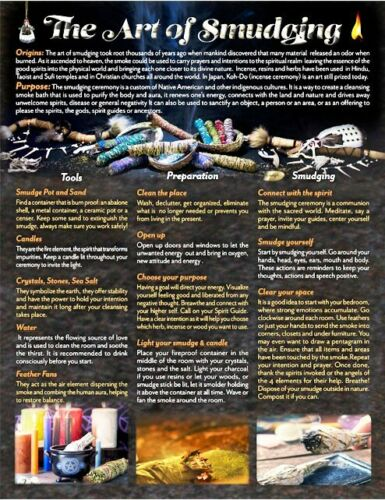 Art of Smudging - Informational Chart