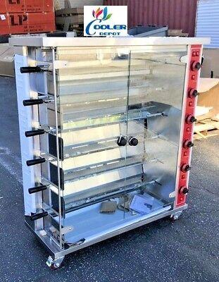 New 30 Chicken Rotisserie Machine Natural Gas Propane Restaurant Equipment Use