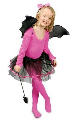 KOSTÜM Fledermaus Ballerina Tutu-Rock Flügel Zauberstab Haarreif - Fledermaus Ballerina Kostüm