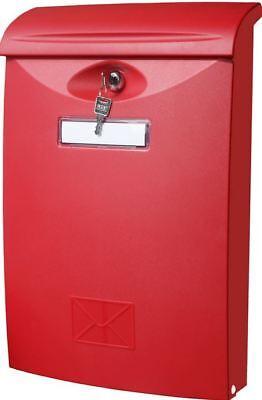 BASI BRIEFKASTEN  BK 300 ROT  wetterfester Kunststoff 41 x 27 x10,5 cm 950101744