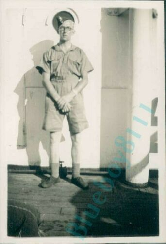 WW2 Royal Corps Of Signals Serviceman On Troopship Egypt 1941