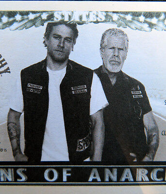 Sons Of Anarchy Unholy Ones Free Shipping  Million Dollar Novelty Bills