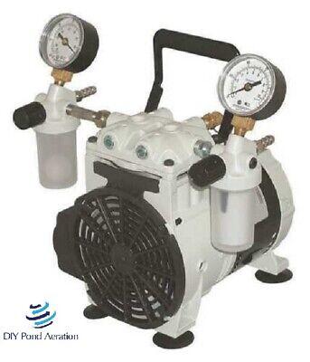 New Thomas Vacuum Veneer Pump 14hp 27.6hg With 2 -vac Trapsgaugehandlecord