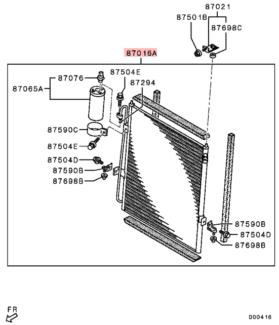GENUINE MITSUBISHI Triton MN 2.5L diesel******2015 AC condenser Morley Bayswater Area Preview