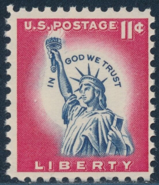 """#1044a Var. """"11¢ Liberty"""" Tagged Front & Back (only 12 Known) Vf Og Nh Bs2220"""