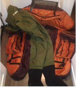 Like New Belly Boat & Waders