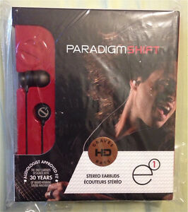PARADIGM E1 EARBUDS. NEW. NEVER OPENED!