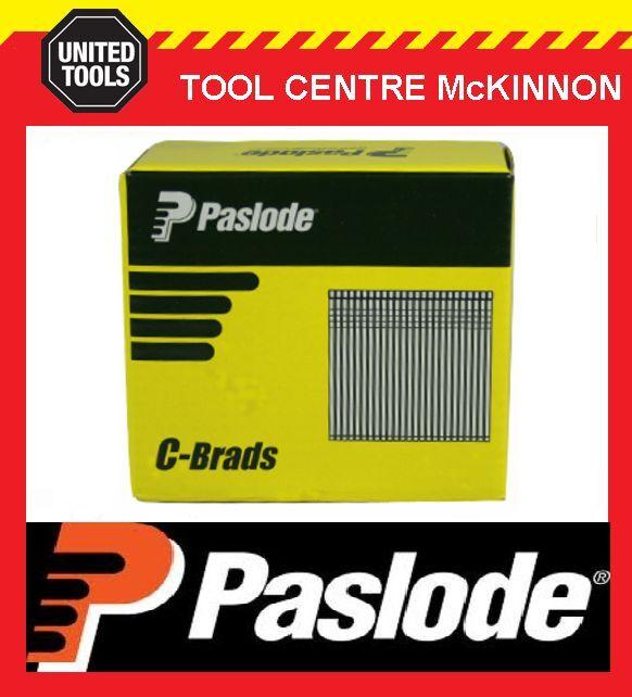 PASLODE 65mm C SERIES 16 GAUGE GALVANISED BRADS / NAILS – BOX OF 3000
