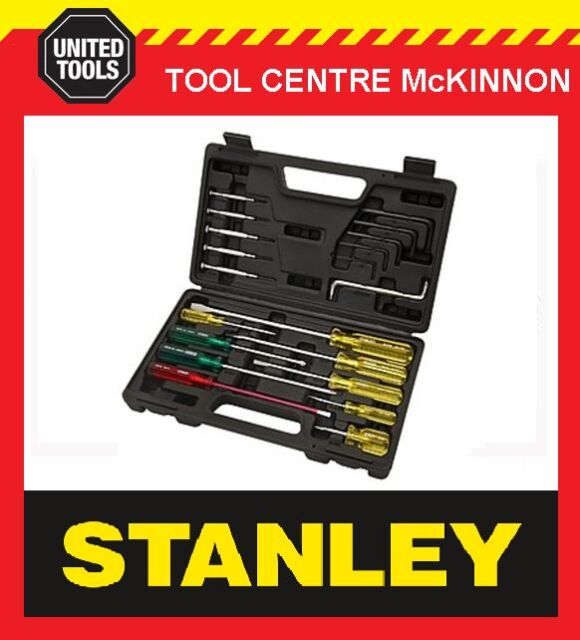 STANLEY 20pce ALL PURPOSE SCREWDRIVER AND HEX KEY SET IN CARRY CASE