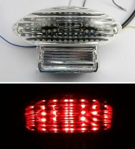 Integrated LED TailLight Turn Signals Hayabusa 99-07 Clear. NEW