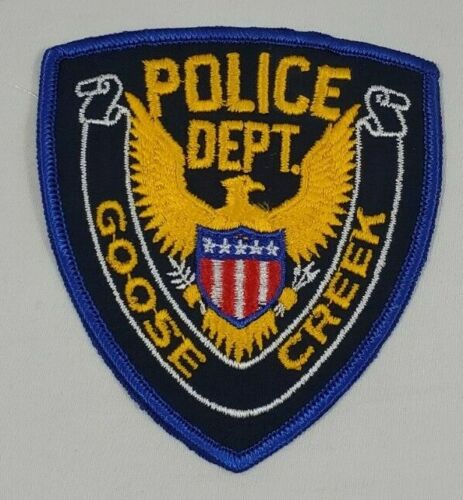 GOOSE CREEK SOUTH CAROLINA SC POLICE SHOULDER PATCH - NEW NEVER SEWN -