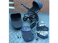 Quinny moodd pushchair and foldable carrycot with extras